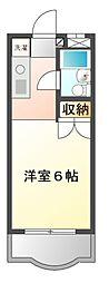 ダイアパレス京成大久保[3階]の間取り