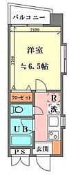 メリス歌舞伎町[201号室号室]の間取り
