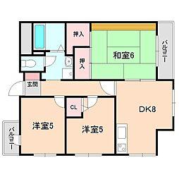 アパートメントビル多田[701号室]の間取り