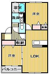 シャーメゾン小津[2階]の間取り