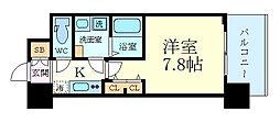 エスキュート梅田中崎町 2階1Kの間取り
