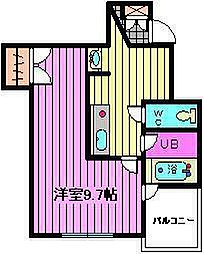 AXIS下町[4階]の間取り