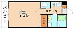 福岡県飯塚市川津の賃貸アパートの間取り