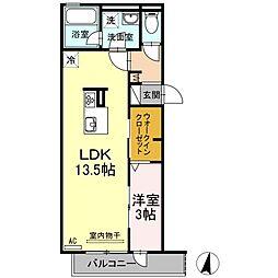 仮)D-room花町(カショウディールームハナマチ)[3階]の間取り