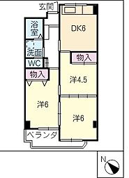 MARUMANマンション[7階]の間取り