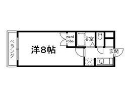 グランドールワタナベ2[2階]の間取り