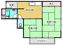 UR住吉団地[3-401号室]の間取り