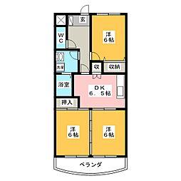 マリンマツヤマ[4階]の間取り