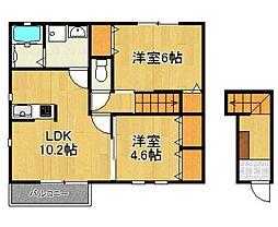 ルボワA棟(ルボワAトウ)[2階]の間取り
