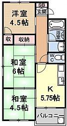 ロハスコート瀬田[202号室号室]の間取り
