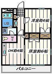 東京都葛飾区西水元6丁目の賃貸マンションの間取り