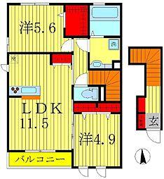 リオリープ[2階]の間取り