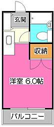 EXCEED狭山台 (エクシード狭山台)[3階]の間取り