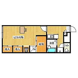 レオパレスHOTハウス登別[2階]の間取り