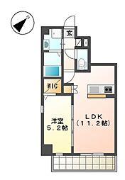 up side M 大曽根[7階]の間取り