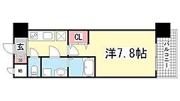 エスリード神戸三宮ノースゲート[13階]の間取り