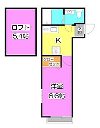 Best Stage 鶴瀬東2丁目〜ベストステージ鶴瀬東2丁[1階]の間取り