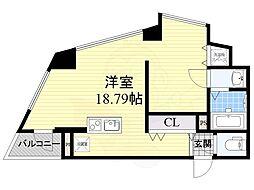 匠空TOYONAKA 10階ワンルームの間取り