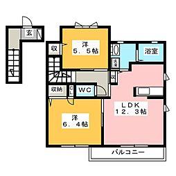 ラフィーネ C棟[2階]の間取り