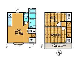 [テラスハウス] 東京都町田市高ケ坂 の賃貸【/】の間取り