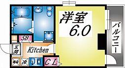 阪急神戸本線 王子公園駅 徒歩4分の賃貸マンション 5階1Kの間取り