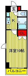 クレストガーデン野田[102号室]の間取り