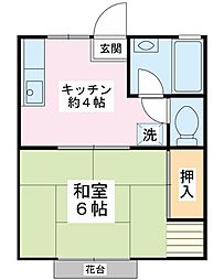 コーポグリーン[2階]の間取り