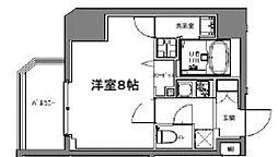 S-RESIDENCE大森山王 3階1Kの間取り