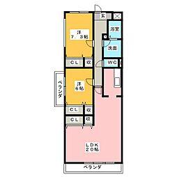ソレイユ2[3階]の間取り