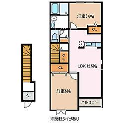 カーサフェリーチェ M[2階]の間取り