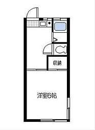 テミールームワン[2階]の間取り