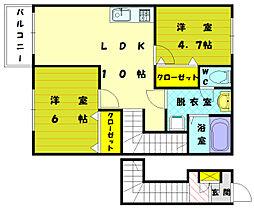 ガーデンハイムI[2階]の間取り