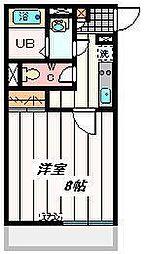 埼玉県さいたま市中央区鈴谷5丁目の賃貸マンションの間取り
