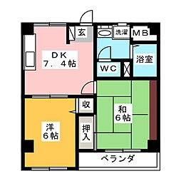REVEUR[2階]の間取り