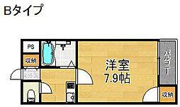 コスモレジデンス住之江[5階]の間取り