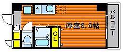 JR山陽本線 高島駅 徒歩13分の賃貸マンション 6階ワンルームの間取り