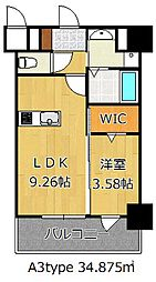 THE HILLS KOKURA[8階]の間取り