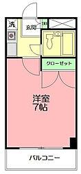 エコルフロンティアガーデン[108号室]の間取り