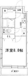 (仮称)四谷サンコーマンション 4階1Kの間取り