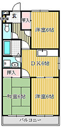 ライラックマンション[201号室]の間取り