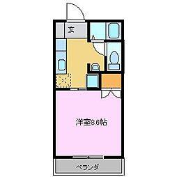 広島県東広島市西条中央1丁目の賃貸マンションの間取り