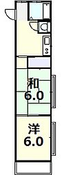 カトレアハイツ[205号室]の間取り