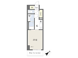 川崎区堀之内町計画 7階1Kの間取り