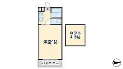 ラフェスタ篠崎[108号室]の間取り