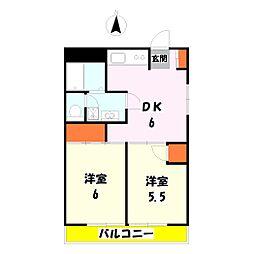 ペアシティハウス竹の塚[6階]の間取り