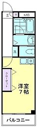 カーサペリオーレ[402号室]の間取り