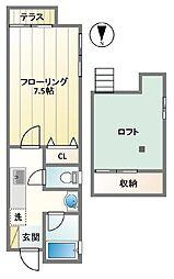 OMTハウス[102号室]の間取り