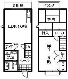 [テラスハウス] 大阪府岸和田市西之内町 の賃貸【/】の間取り