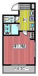 埼玉県さいたま市浦和区仲町1丁目の賃貸マンションの間取り
