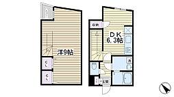 LEGALAND SENGOKU Square[102号室]の間取り